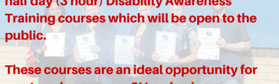 Disability Awareness Training Coming To A Venue Near You… Soon!!