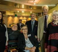 Cynon Valley Chairperson Dinah Pye (front) with Vikki Howells AM, myself, Roy Noble, Lord Aberdare and Ann Clwyd MP