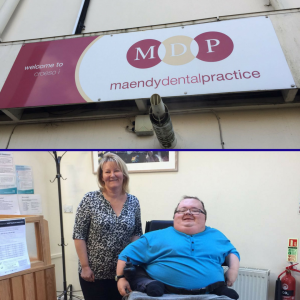 Maendy Dental Practice with Practice Practice Manager Deborah James with Principal Consultant Richard Jones