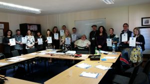 Principal Consultant Richard Jones with delegates from the morning course at Cardiff and Vale CAB
